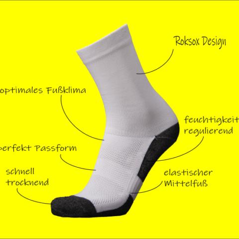 Roksox Sportsocken aus der Steiermark - Fußbeschreibung