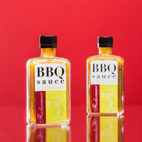 Fischerauer Hot Mango BBQ Sauce als Werbegeschenk