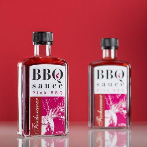 Fischerauer Pink BBQ Sauce als Werbegeschenk
