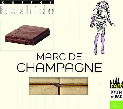 Zotter Mitzi Blue Nashido Marc de Champagne