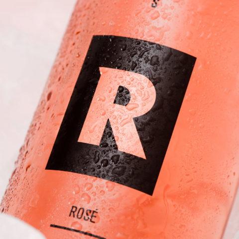 Steirisch-schenken ROST Rose-Wein/Apfel als Werbegeschenk Flaschenetikett