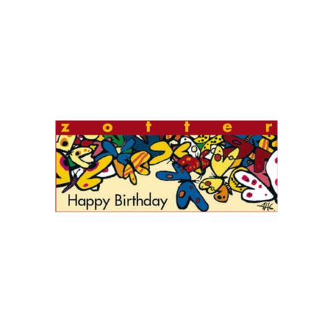 Zotter Schokolade Happy Birthday als Mitarbeitergeschenk