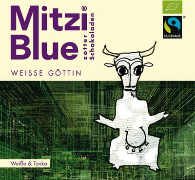 Zotter Mitzi Blue Weisse Göttin