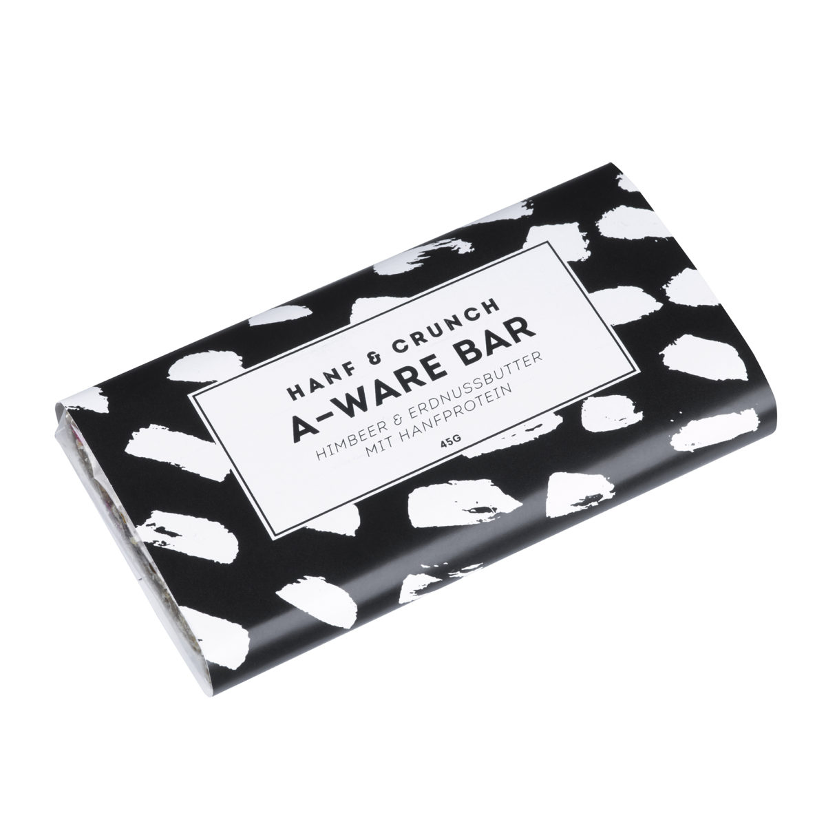A-WARE Himbeer-Erdnussbutter Hanfproteinriegel