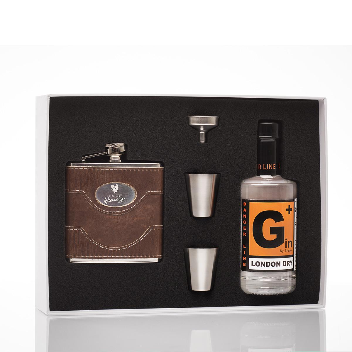 Distillery Krauss Geschenkset Gin und Flachmann