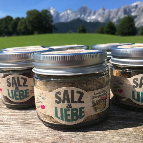 Salz&Liebe BIO Limette-Rosé-Bergbasilikum Grillsalz 105g