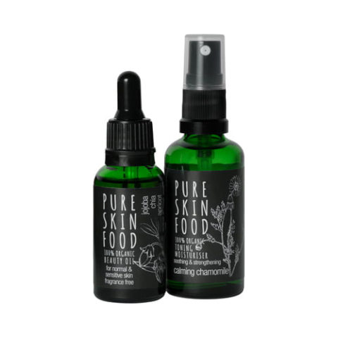 Pure Skin Food Pflegeset füer empfindliche und normale Haut