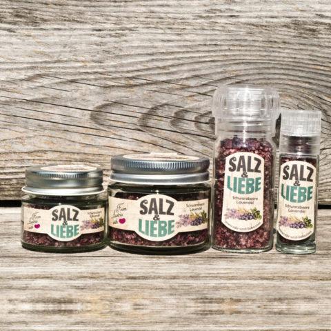Werbegeschenk Salz&Liebe BIO Schwarzbeer-Lavendel Salz 25g