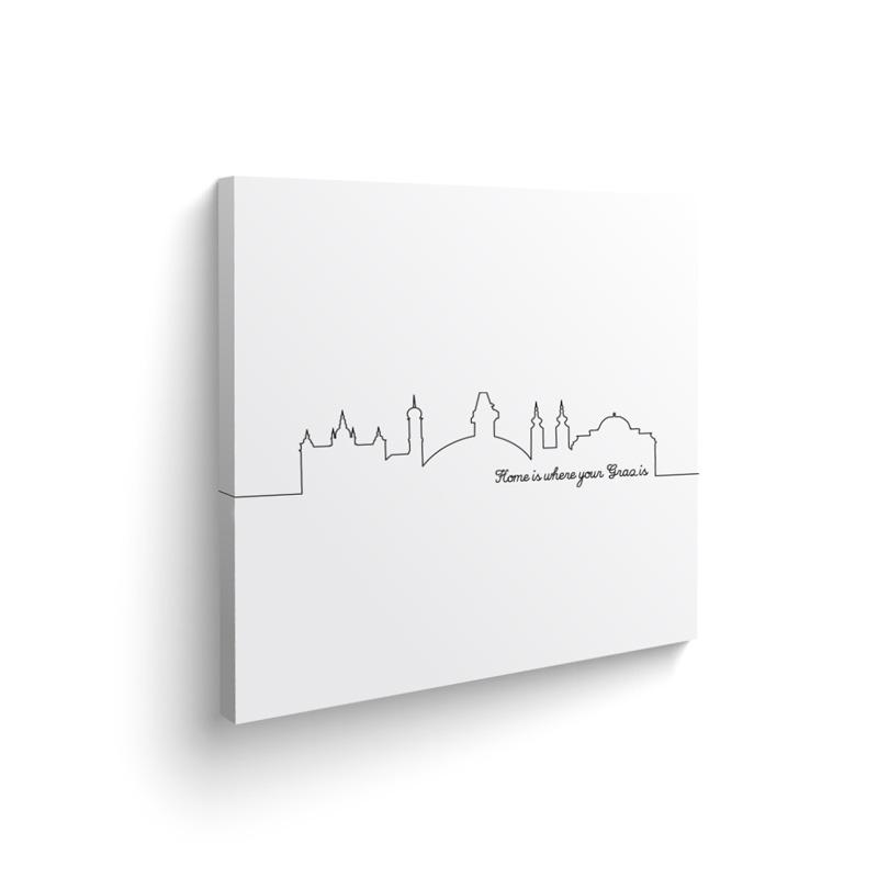 DesignSouvenirGraz Leinwand Skyline Graz
