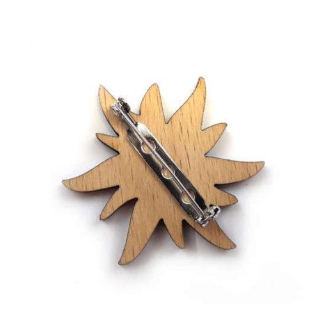 Woodheroes Streuartikel Edelweiß mit Anstecknadel