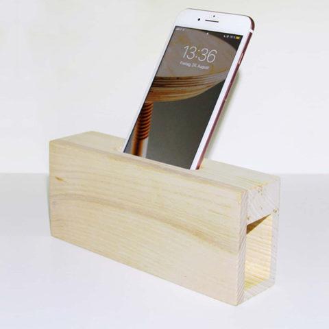 Tischlerei Lenz Klanggeber für das Smartphone als Geschenk