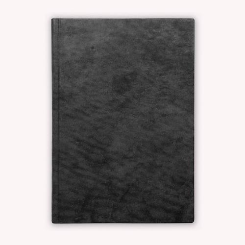 Leder-Notizbuch Schwarz