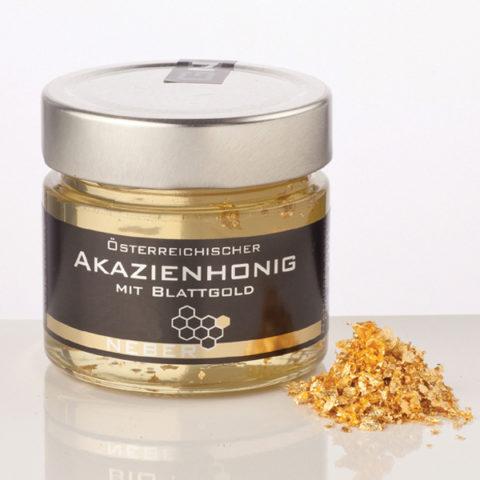 Neber Honig Akazienhonig mit Blattgold