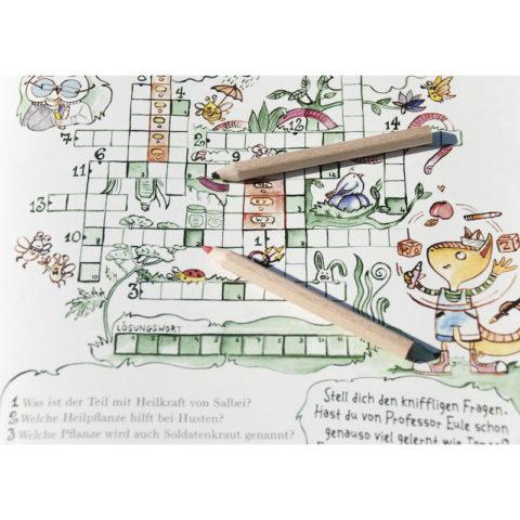 Zauberkraut und Hollerbusch Erlebnisheft für Kinder Beispiel