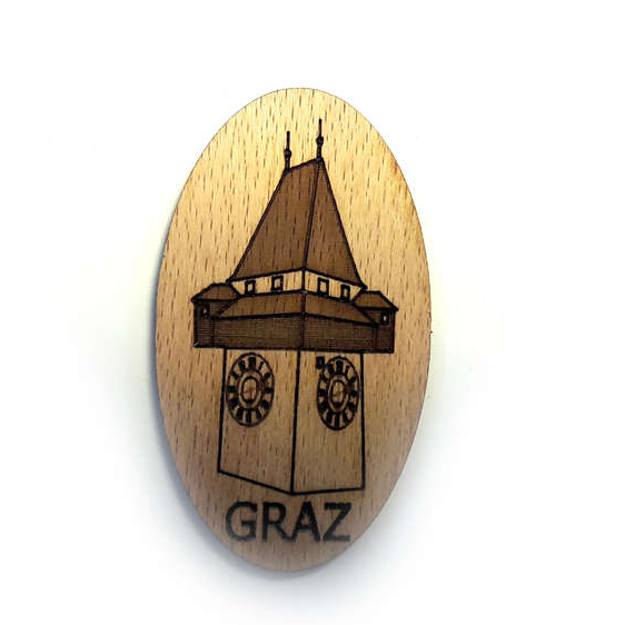 Woodheroes Streuartikel EdelweißGraz Uhrturm
