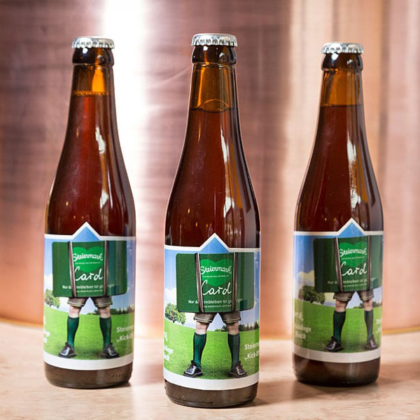 Flecks Bier Steiermark mit eigenem Etikett