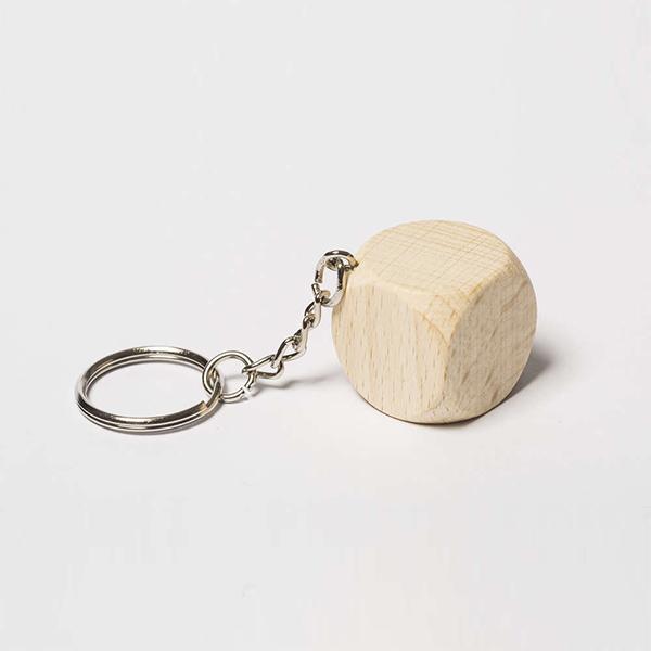 Woodheroes Schlüsselanhänger Würfel
